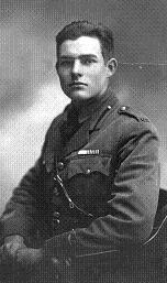 Young Ernest Hemingway (looks a bit like Tom Cruise!)